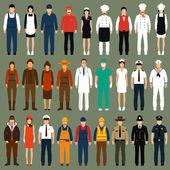 労働者は、職業人を制服します。 — ストックベクタ