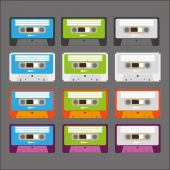 Cassette tapes — Stock Vector