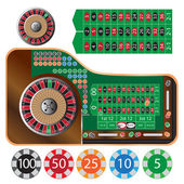 Roulette table — Stock Vector
