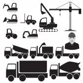 Constructions machinery — Vettoriale Stock