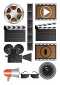 Vector cinematography objects — Stock Vector