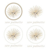 Saw palmetto badges — Stock Vector