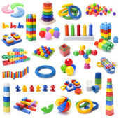 Many colour kids toys — Stock Photo