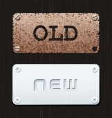Old new — Stock Vector