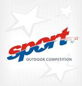 Sport logo vector — Stock Vector