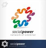 Social logo — Stock Vector