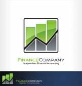 Finance logo vector — Stock Vector