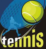 Tennis vector poster — Stock Vector