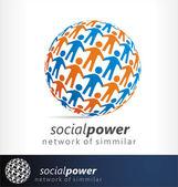 Social vector logo — Stock Vector