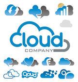 Cloud logo symbol vector — Stock Vector
