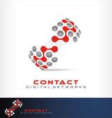 Social network logo vector — Stock Vector