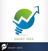 Smart finance logo vector — Stock Vector