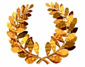 Golden laurel wreath — Stock Photo