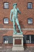 David statue by Michelangelo in Copenhagen. — Stock Photo