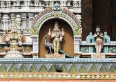 Lord Murugan Statue on glorious covered walkway to Thiruvannamal — Stock Photo
