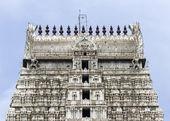 Annamalaiyar Temple, top of eastern gopuram in Thiruvannamalai. — Stock Photo