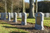 Detail of Belgian WW I cemetery in Houthulst. — Stock Photo