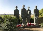 Emil Krieger statue on German war cemetery in Langemark. — Stock Photo