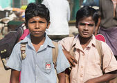 Two young Tamil Schoolboys. — Stock Photo