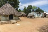 Group of humble dwellings in village. — Stock Photo