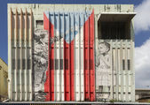 Graffiti of children composing the Puerto Rico flag. — Stock Photo