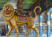 Durga in Sakthi avatar at Mahalingeswarar Temple. — Stock Photo