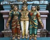 Detail of older Gopuram at Mahalingeswarar Temple. — Stock Photo