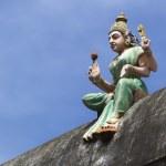 Goddess Lakshmi on temple wall. — Stock Photo #72169627