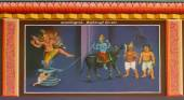 Shiva saves the life of Markandeya and kills Yama. — Stock Photo