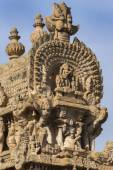 Short side of the Gopuram apex. — Стоковое фото