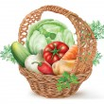 Basket Vegetables — Stock Vector #53963225