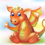 Magic baby dragon cartoon — Stock Vector #53993055