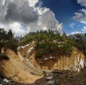 Steep precipice of a mountain river — Stock Photo