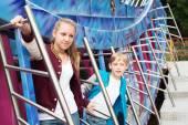 Teens on the Carousel — 图库照片