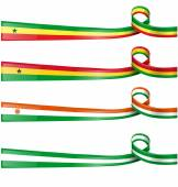 Africa flag set on white background — Stock Vector