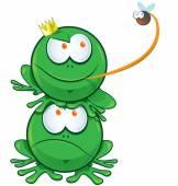 Happy frog kreslený — Stock vektor