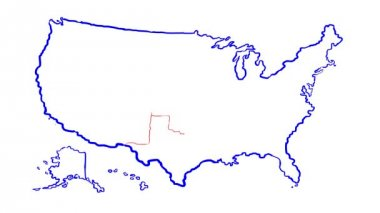 United state of america map — Stock Video