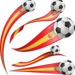 Spain  flag set with soccer ball — Stock Vector #67830567