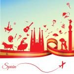Spain travel background — Stock Vector #79283016