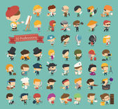 Set of 50 professions  — Stock Vector