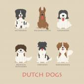 Set of dutch dogs — Stock Vector