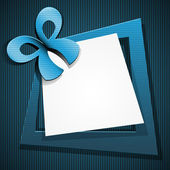 Background with a gift ribbon — Vector de stock