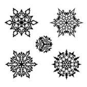 Flocos de neve decorativos — Vetor de Stock