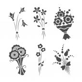 Graphical bouquets — Stock Vector