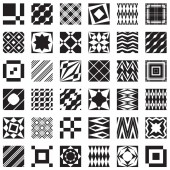 Decorative elements, can be used as seamless patterns — Vector de stock