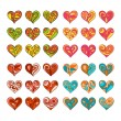 Set of vector hand drawn cute hearts — Stock Vector #62433271