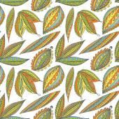 Foglie luminosi seamless pattern. — Vettoriale Stock