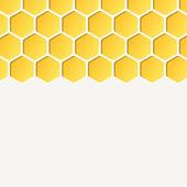 Empty honeycombs background — Vector de stock