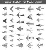 Set of hand drawn arrows — Stock Vector