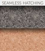 Two seamless hatching patterns. — Stock Vector